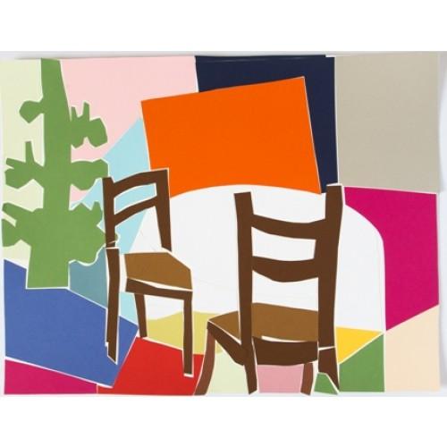Tisch mit 2 Stühlen I