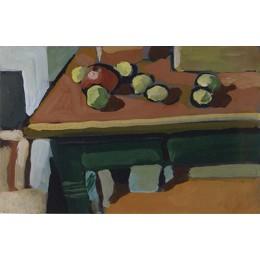 Ohne Titel (Apfel,Zitrone,Tisch)