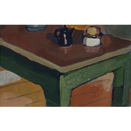 Ohne Titel (Tisch,Platte braun)