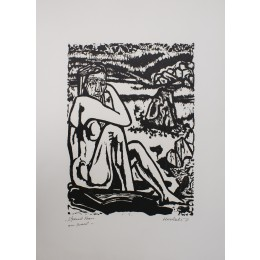 Sitzende Frau am Strand, Dube 423 III