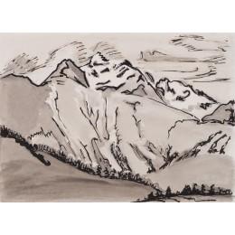 Berglandschaft (Oberengadin)