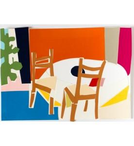Stühle mit Tannenbaum