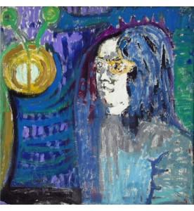 Portrait mit weissem Gesicht
