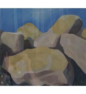 Steine vor blauem Himmel