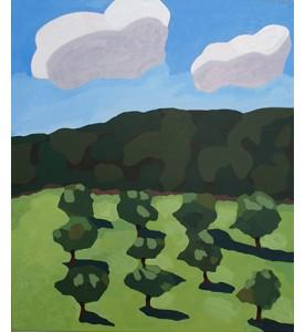 Landschaft mit zwei Wolken