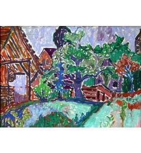 Garten mit Mühle