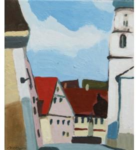 An der Kirche in Munderkingen