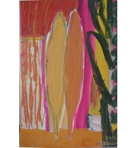 Baum-Paar mit magenta-farbenem