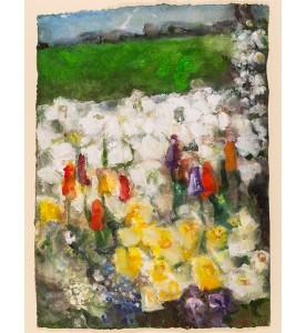 Frühjahr mit Narzissen und Tulpen