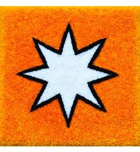 Weisser Stern in Gelb